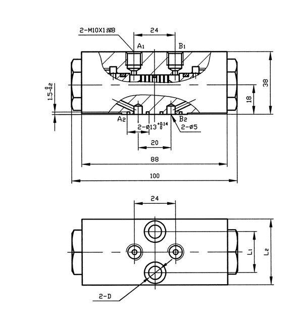 YS6型双向液压锁