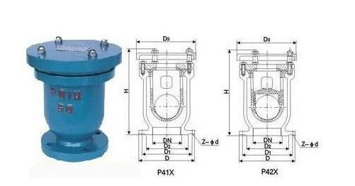 P41X-10快速排气阀结构图