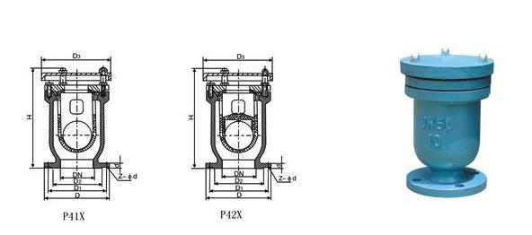 P41X、P42X快速排氣閥結構圖