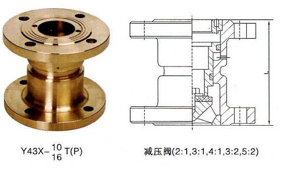 Y43X-10T比例式减压阀结构图