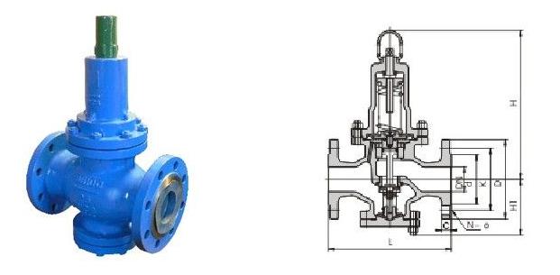 Y42X空氣減壓閥結構圖: