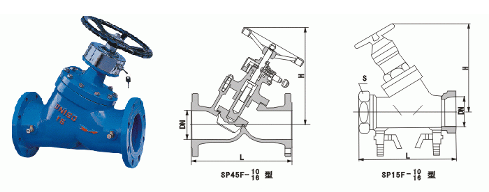 SP45F、SP15F<strong><strong>数字锁定平衡阀</strong></strong>结构图