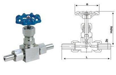 J23W-64P外螺纹截止阀结构图
