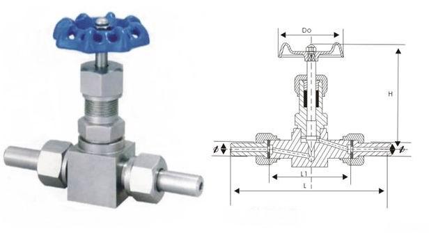 j21w-64p外螺纹高压针型阀结构图图片
