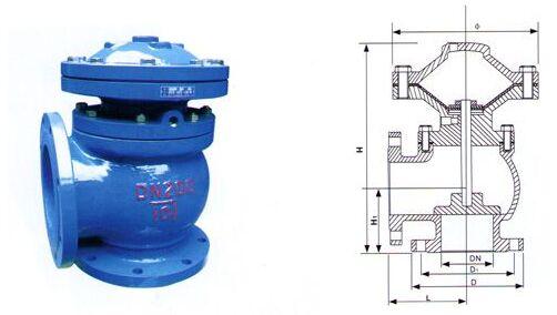 JM744X-10隔膜式快开排泥阀结构图