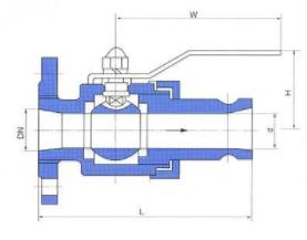 CQA槽车球阀结构图