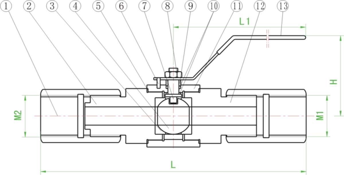 qgm1压力表球阀图片