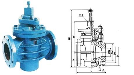 煤气闸阀结构图